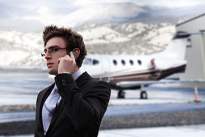 airport businessman