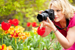 photographer using a digital camera