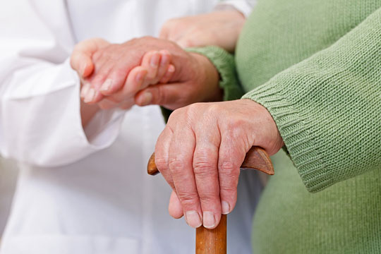 caring for an elderly person
