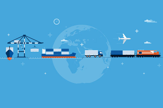 shipping container transportation modes