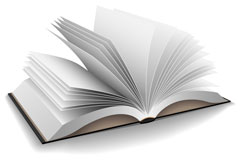 internal pages of a book